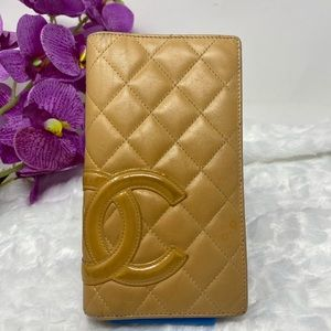 Authentic Preowned Chanel Beige CC Wallet